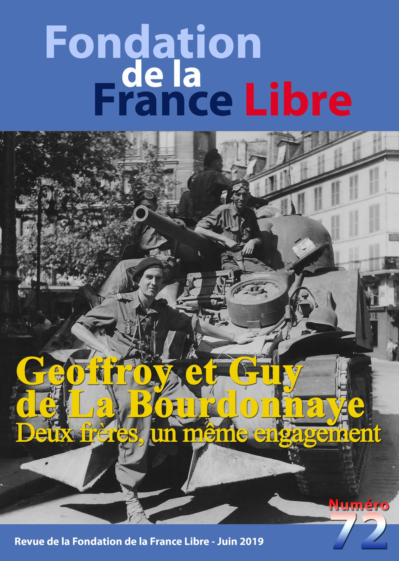 Fondation de la France Libre, n° 72, juin 2019
