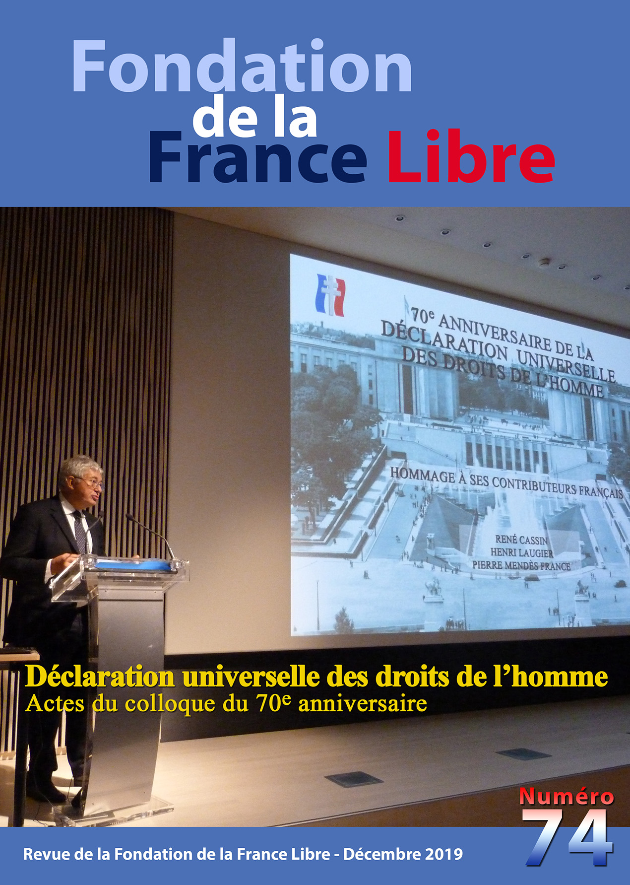 Fondation de la France Libre, n° 74, décembre 2019