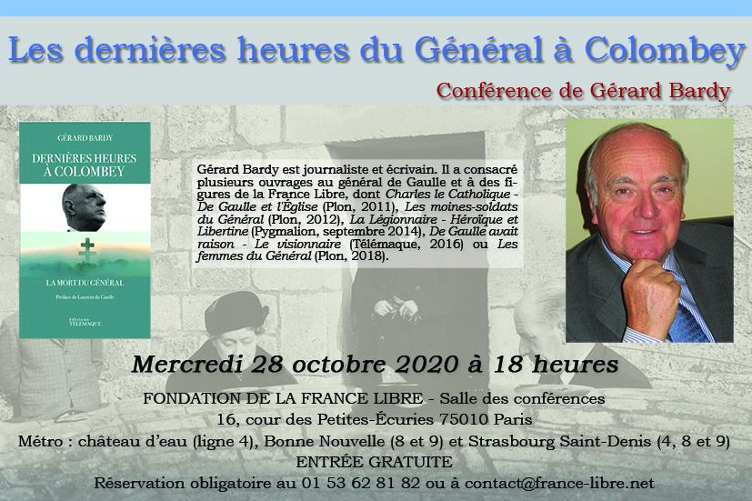 Les dernières heures du Général à Colombey (conférence)