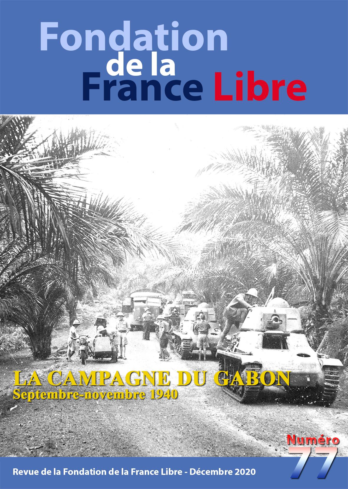 Fondation de la France Libre, n° 77, décembre 2020