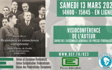 Conférence de Robert Belot sur Résistance et conscience européenne. Henri Frenay, de Gaulle et les communistes (1941-1947)