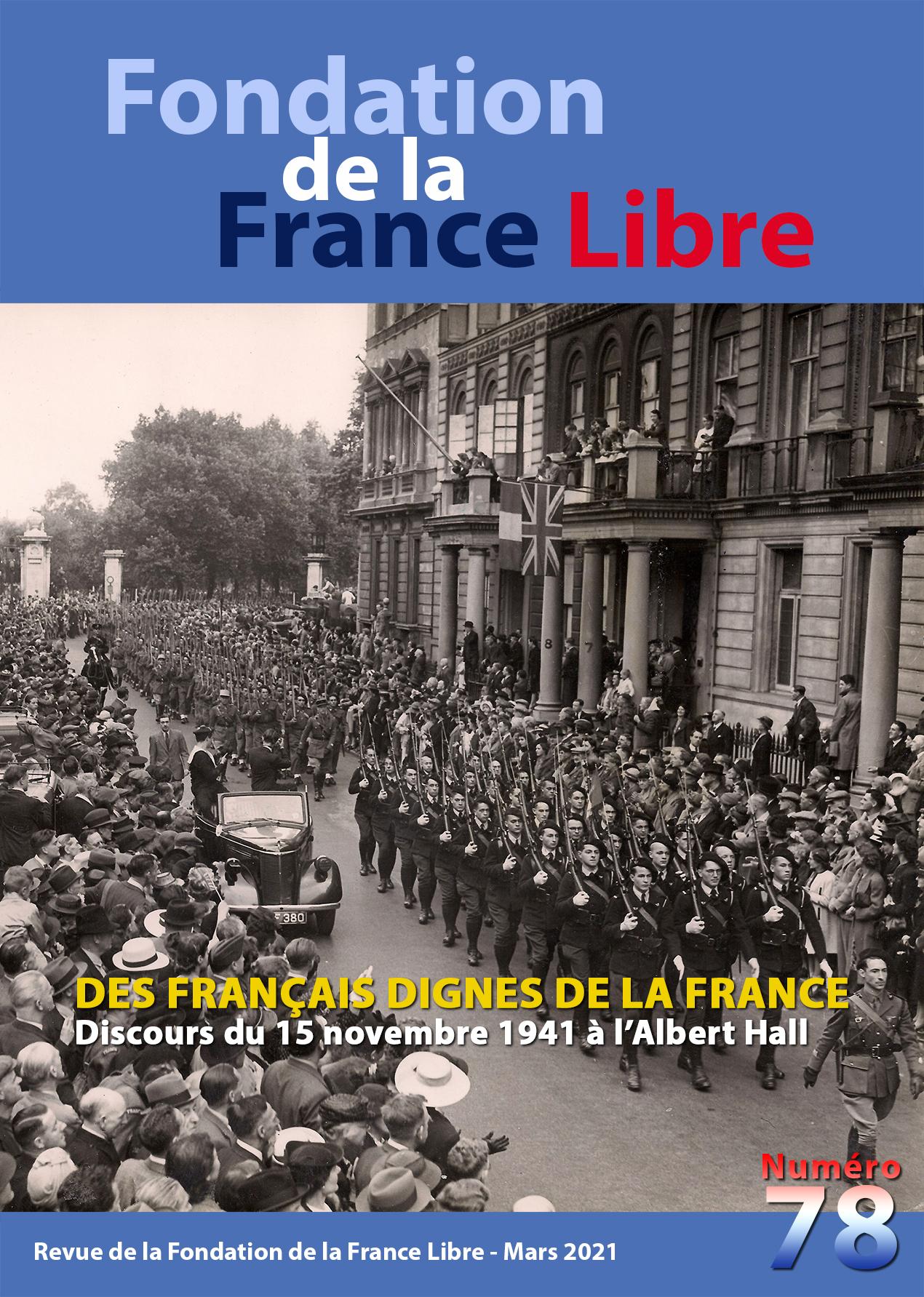 Fondation de la France Libre, n° 78, mars 2021