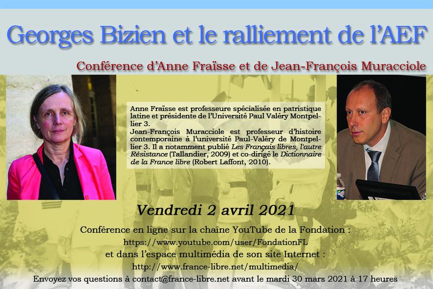 Georges Bizien et le ralliement de l'AEF à la France Libre (conférence en ligne)