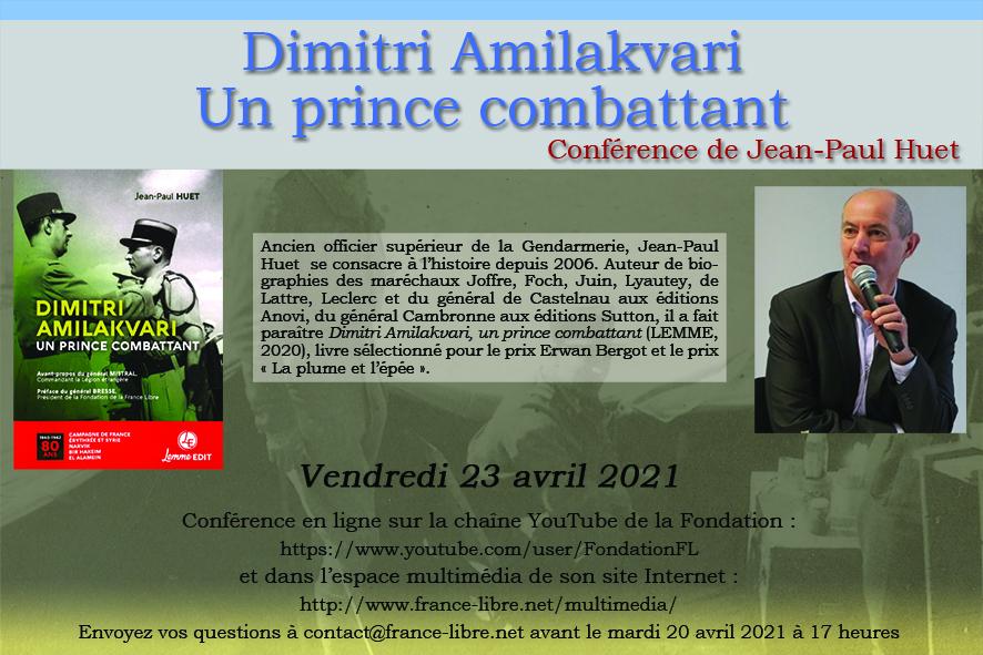 Dimitri Amilakvari, un prince combattant (conférence en ligne)