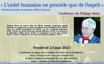 « L'unité humaine ne procède que de l'esprit » (vidéo de la conférence)