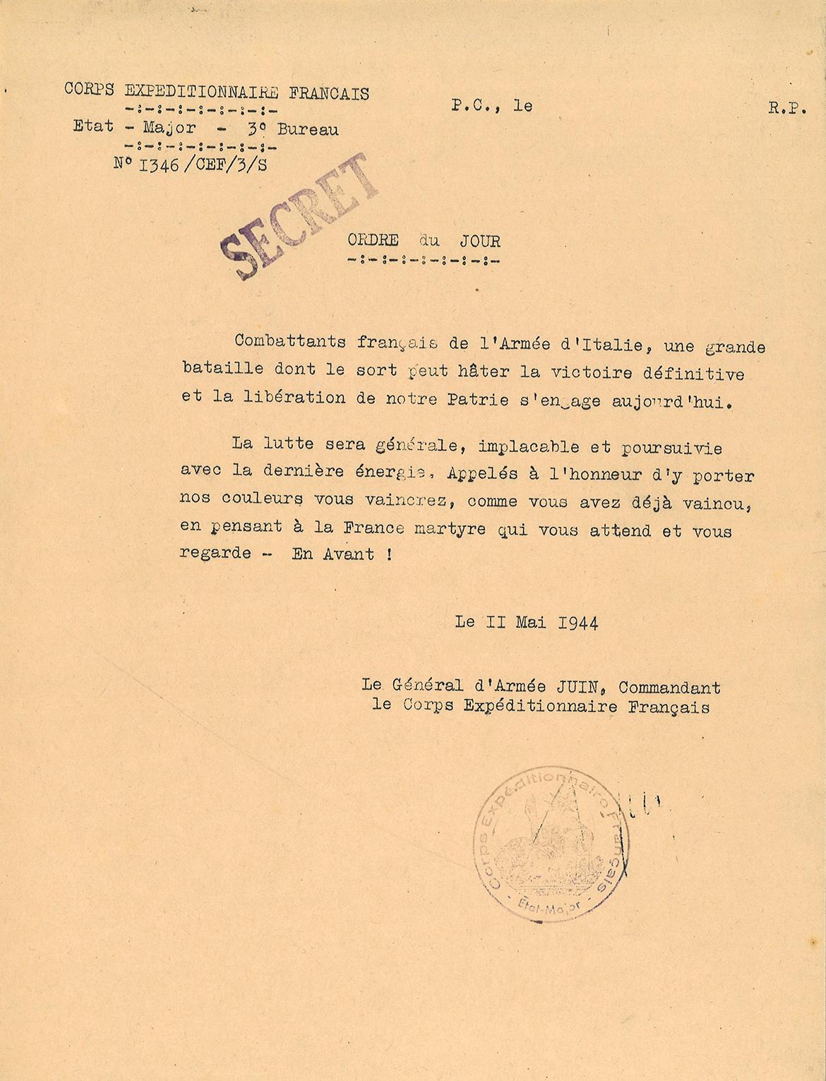 Documents sur la campagne d'Italie