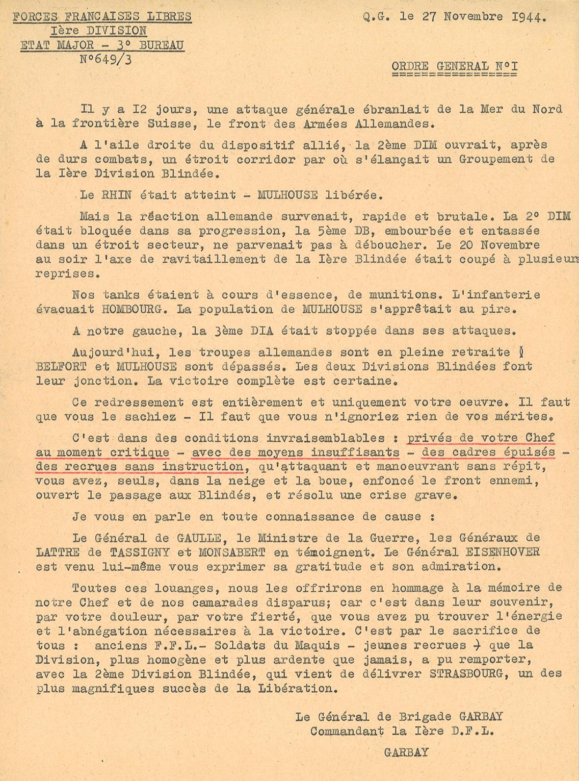 Documents sur la campagne de France
