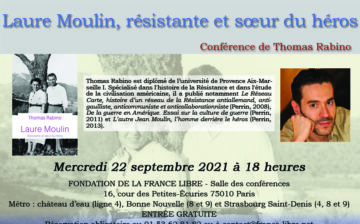 Laure Moulin, résistante et sœur du héros (conférence)