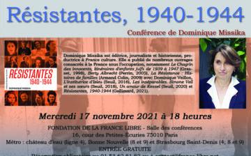 Résistantes, 1940-1944 (conférence)
