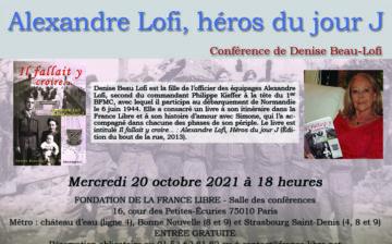 Alexandre Lofi, le héros du jour J (conférence)