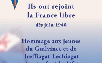 Hommage aux jeunes du Guilvinec et de Treffiagat-Léchiagat qui ont rejoint la France Libre dès juin 1940
